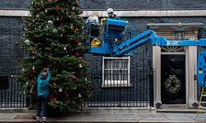 10 Downing Street, London with Christmas Tree