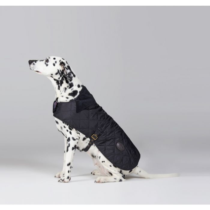 Barbour Quilted Dog Coat In Black NITDG