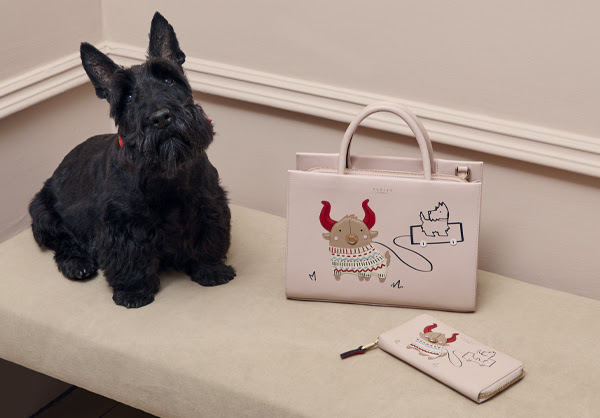 Handbag and purse and scottie dog